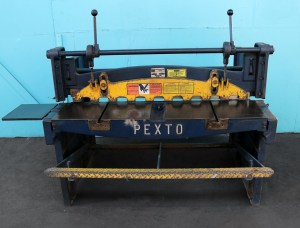 "Pexto 52"" x 16 Gauge Heavy Duty Gap Foot Shear"