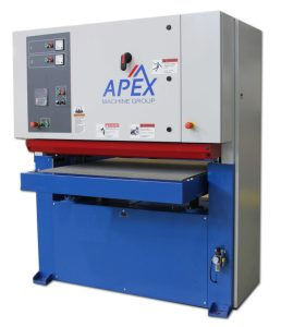 Apex 37″ Two Head Belt / Disc Grinding, De-Burring Machine with Belt Cleaning Unit, 1037M-DSc
