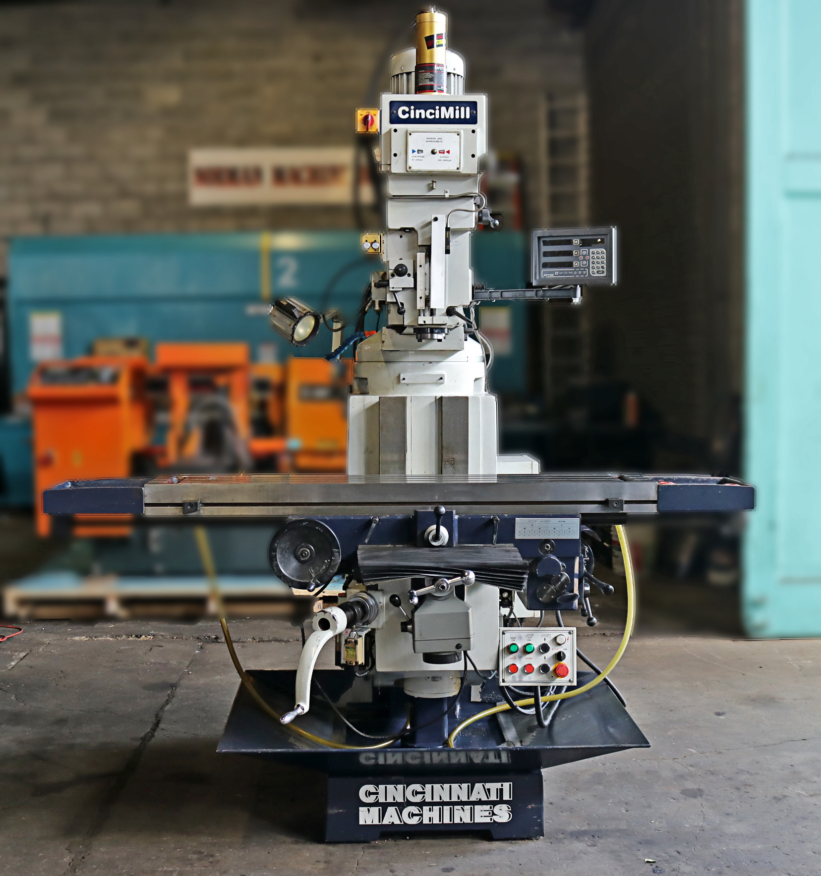Cincinnati Machines 12″ x 59″ Variable Speed Vertical Turret Milling  Machine, Cincimill
