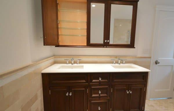 Custom vanity and medicine cabinet