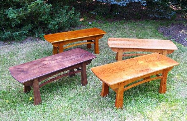 four custom coffee tables