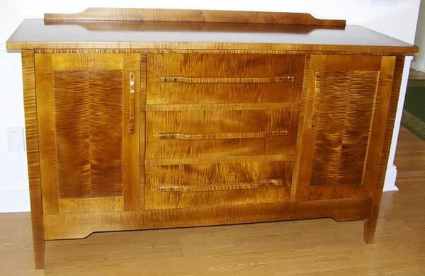 Custom wood credenza