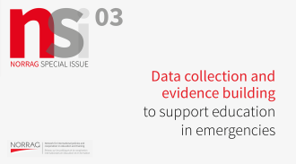 Call for contributions - NORRAG Special Issue 02 Data collection and evidence building  to support education in emergencies