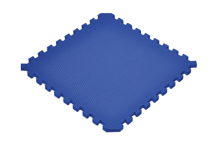 norsk solid blue sport foam floor mat sample tiles