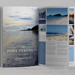 Port Stephens – Magazine article mockup