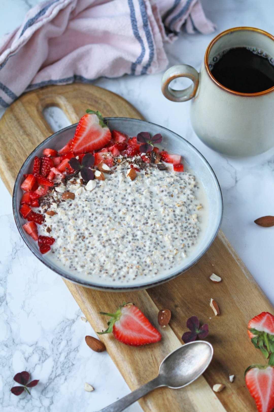 Overnight oats med peanut butter og kakao