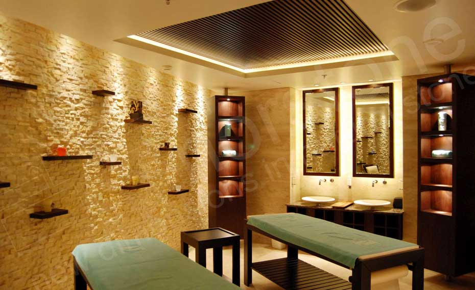 Interior Stacked Stone Veneer Wall Panels   Interior Stone Cladding Ivory Rock Panels for Modern Natural Stacked Stone Feature Walls in Interior  Spa