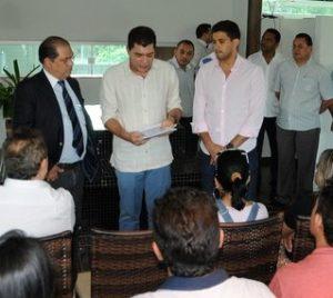 Ver. Pastor Joao Campos em lançamento edital do concurso da Prefeitura