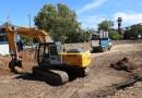 El Municipio construye desagüe y rotonda en la zona del Puerto de San Isidro