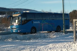 Bus in arctic Norway