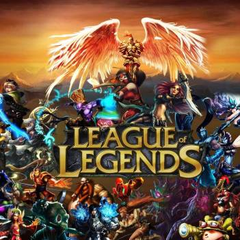 Poster from the League of Legends, the e-game featured in the movie Good Game: The Beginning