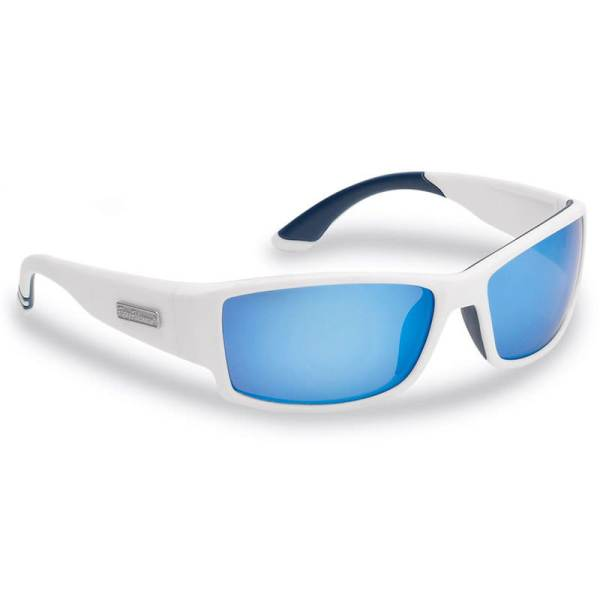 Razor Sunglasses 7717WSB - White Matte Frame, Smoke (Blue Mirror) Lenses