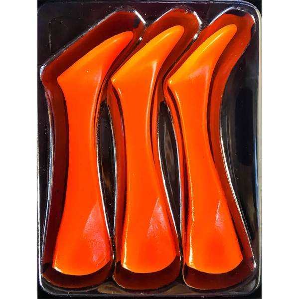 Headbanger Shad Replacement Tails - Fluo Orange Color