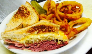 Grilled Reuben - Onion Rings