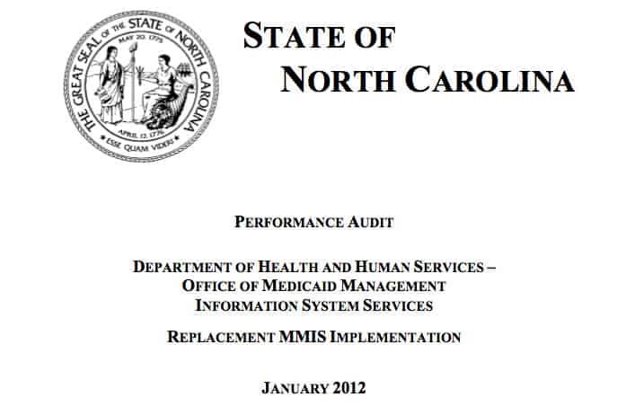 screen shot of Auditor's report front