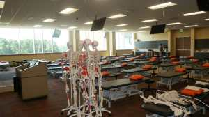 Classes at the new Campbell University School of Osteopathic Medicine will take place in the 96,500-square-foot Leon Levine Hall of Medical Sciences.