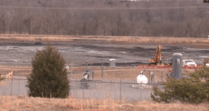 The Duke Energy coal ash pond near Eden,