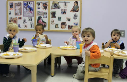 Children at Lulu's Child Enrichment Center, attached to the Mitchell Gold + Bob Williams factory in Taylorsville, NC.
