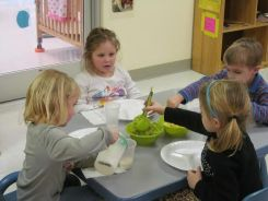 Changes at Lulu's Child Enrichment Center included adding more fruits, vegetables and high fiber breads and snacks to the menu, which director Kim Draughn said the kids eat readily.