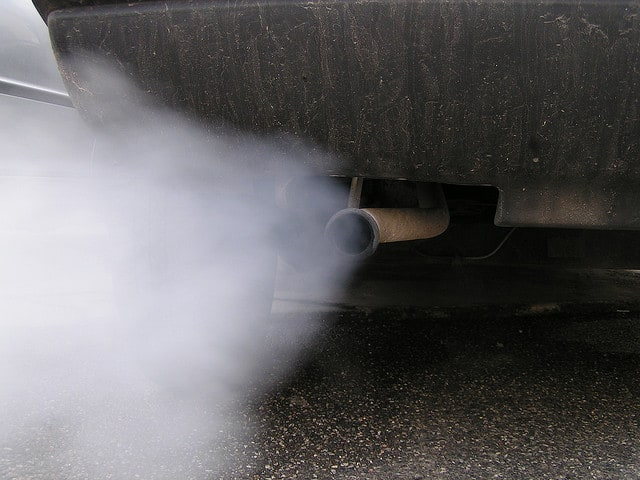 smog coming out of a tailpipe