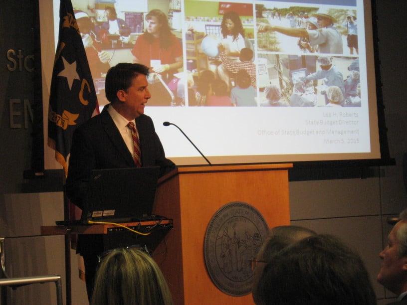 Gov. Pat McCrory presented his recommended $21.5 billion budget Thursday morning.