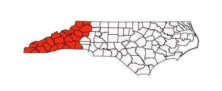 Counties of western NC