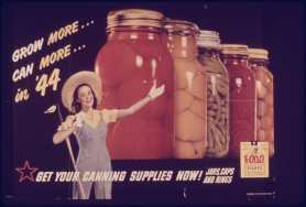 WWII-era poster urging Americans to can their produce. Image courtesy U.S. National Archives and Records Administration