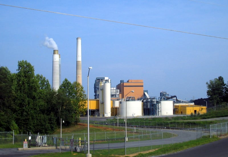 Belews Creek Steam Station, a coal-fired power plant whose wastewater caused problems for the city of Eden. Photo courtesy Wikimedia Commons