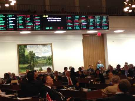 Lawmakers debated into the evening, passing the final $21.73 billion after midnight Thursday evening. Photo credit: Rose Hoban