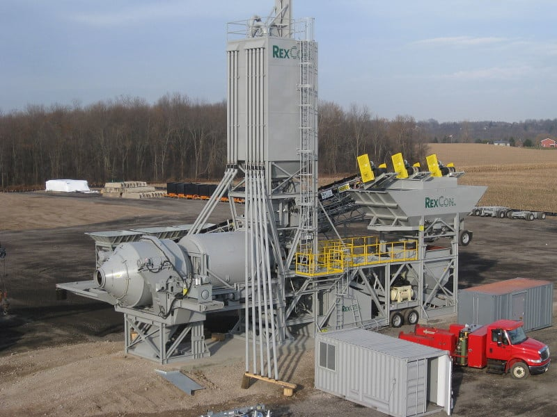 A concrete batch plant. Concrete plants can produce low levels of emissions, and my be exempt from permits under DENR's proposal. Photo courtesy Wikimedia Commons