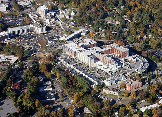 Mission Hospital, Asheville, taken in 2011