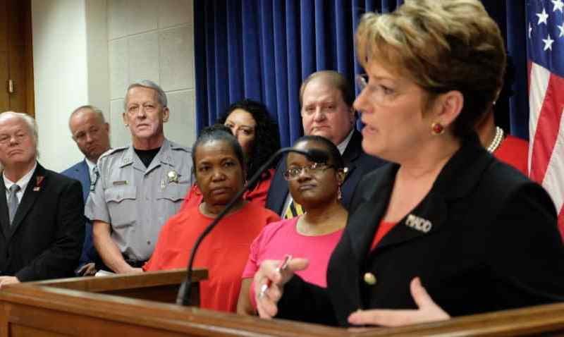 Colleen Sheehey-Church, head of the national office for Mothers Against Drunk Driving, explains that ignition interlocks could save more lives, as other mothers of children killed by drunk drivers look on. Photo credit: Rose Hoban