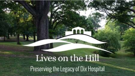 Lives on the Hill logo with trees