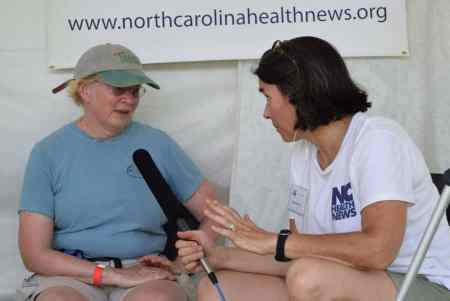 NC Health News editor Rose Hoban interviews Jean Spooner about her days of running on the Dix campus in the 1980s.