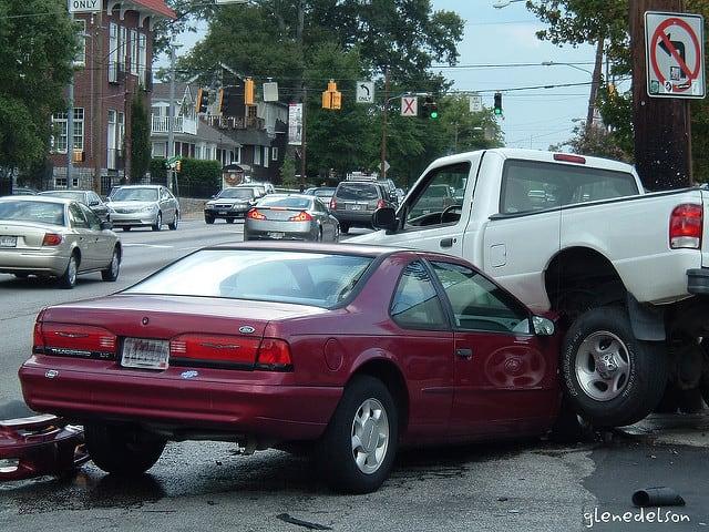 photo of motor vehicle accident