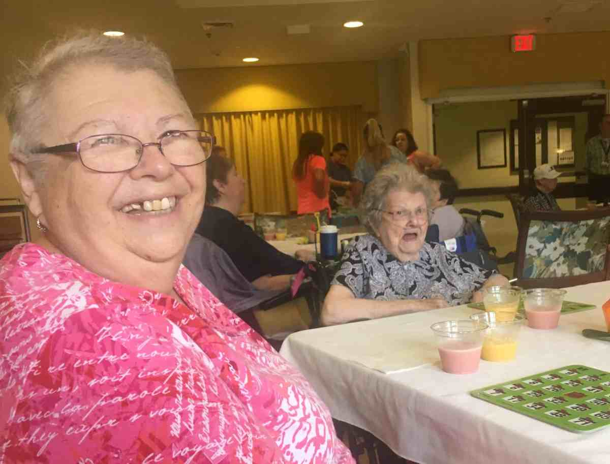 people in nursing homes smile because they're getting better food under a grant-funded program