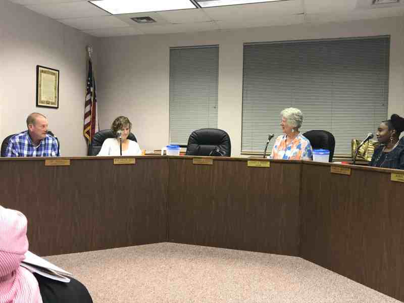 Members of the Pittsboro town board discuss PFAS this week