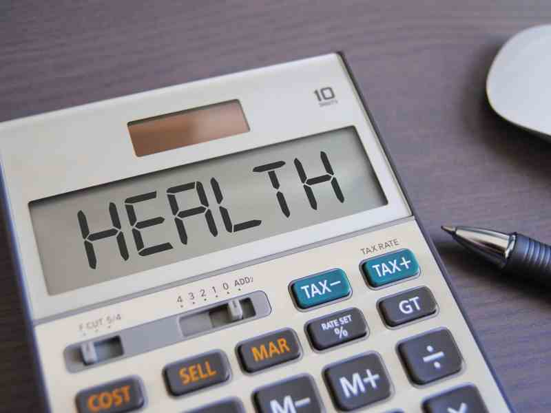 """A calculator that says """"health"""" as an illustration for short-term health insurance plans."""