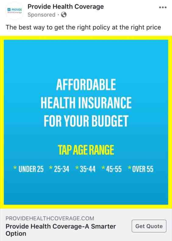 Provide Health Coverage insurance ad