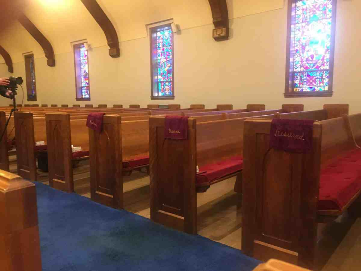 A church that's empty because of prohibitions against gatherings because of COVID-19