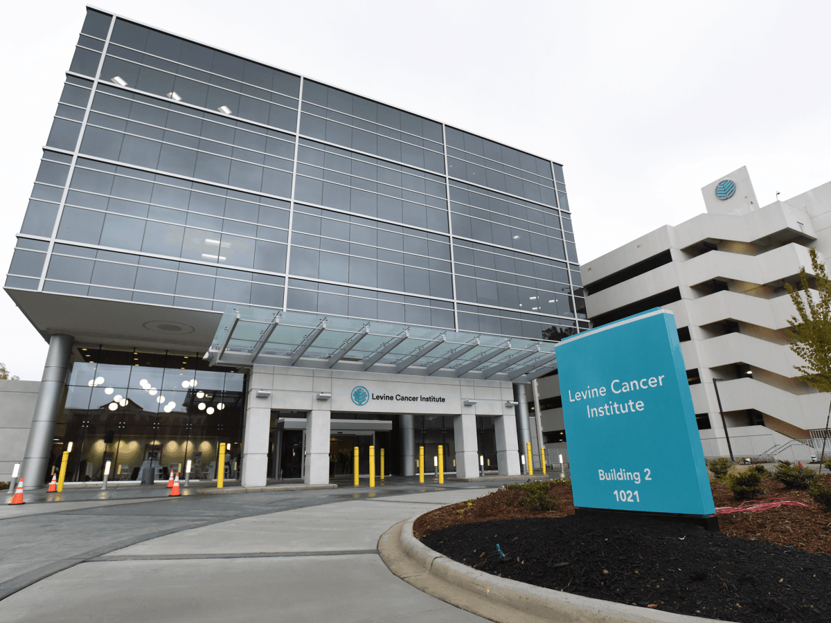 cancer hospital in Charlotte, image of the building