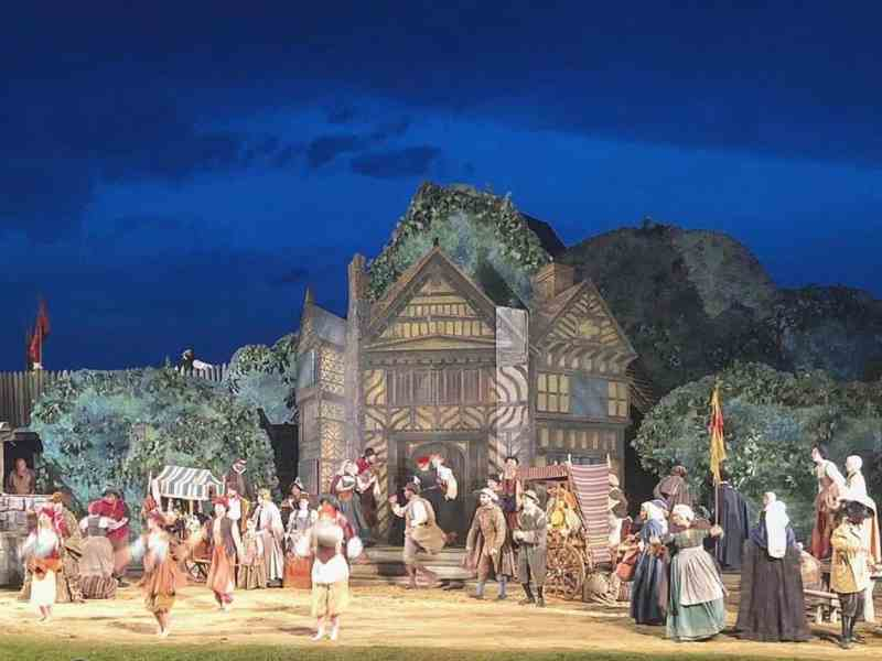 We see a scene from The Lost Colony, which will not perform this summer due to coronavirus