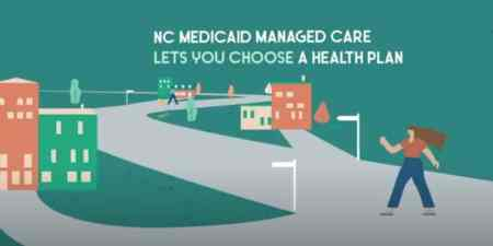A digital image of an ad for Medicaid managed care