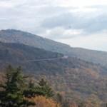 Linn Cove Viaduct near near Boone a great NC fall foliage trip.