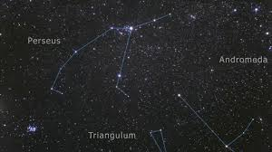 Perseus Constellation In the Night Sky