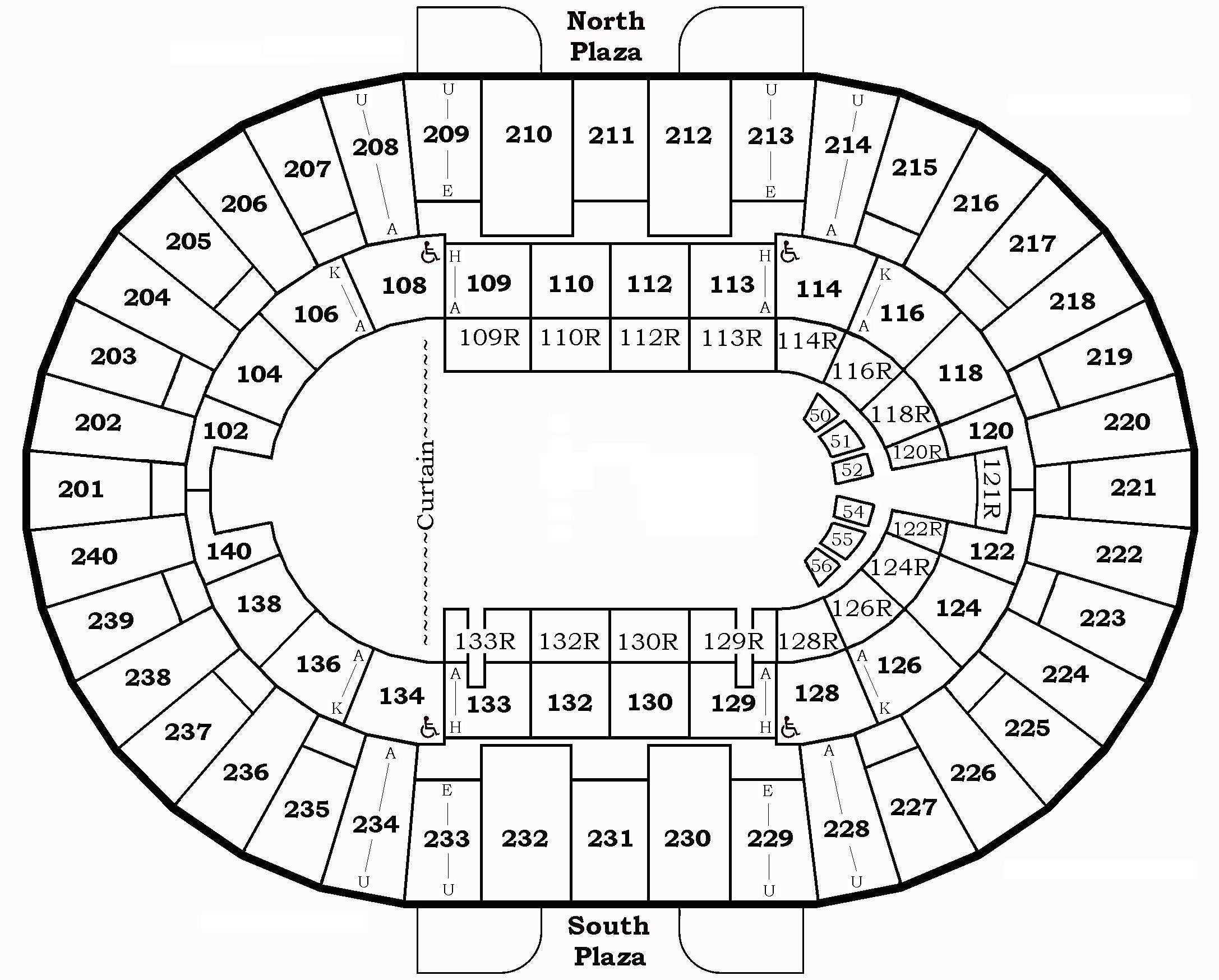 North Charleston Coliseum Seating Capacity