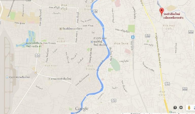ติดต่อรถเช่า แผนที่เมืองเหนือรถเช่าเชียงใหม่-northcitycarrent