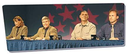 Supes debate with Jill Geist, Patrick Higgins, Daniel Pierce and Jeffrey Lytle