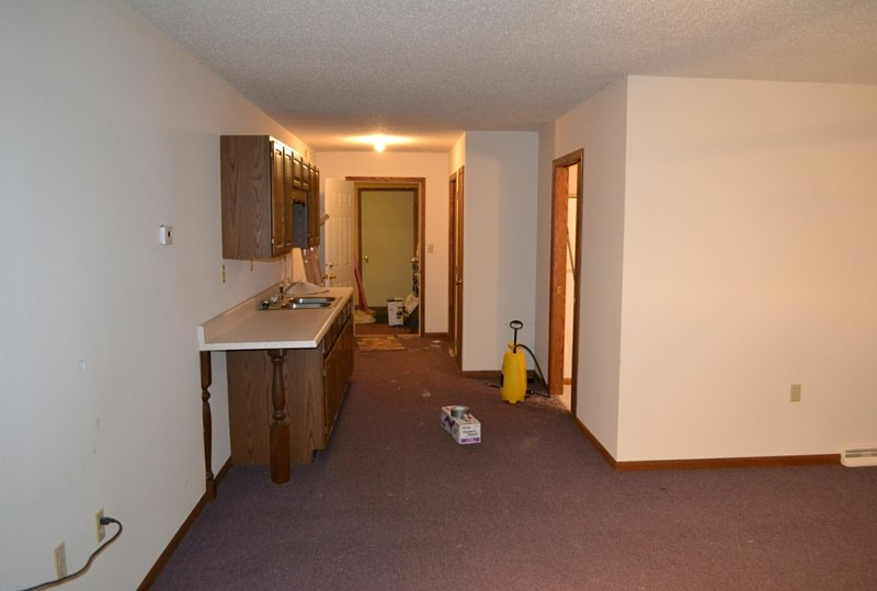 The mother-in-law apartment, looking towards the mudroom entryway.