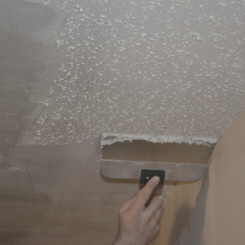 how to- remove popcorn ceilings (3)